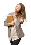 Stylish student girl. Royalty Free Stock Photography