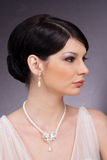 Stylish studio portrait-profile Royalty Free Stock Image