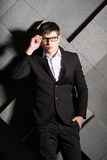 Stylish successful handsome young businessman Royalty Free Stock Photography