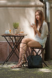Stylish summer coffee fun. Royalty Free Stock Photo