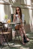 Stylish summer coffee fun. Stock Photos