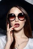 Stylish sunglasses portrait royalty free stock images