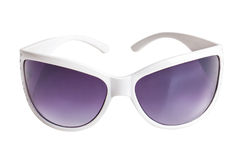 Stylish Sunglasses in the white frame Stock Photo