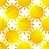 Stylish sunlight seamless pattern on a background Royalty Free Stock Photos