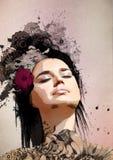 Stylish Surreal woman Portrait Royalty Free Stock Image