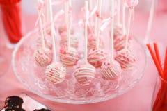 Stylish sweet candy bar set at the wedding ceremony. Confectionery stock image
