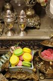 Stylish sweet table on wedding Stock Photo