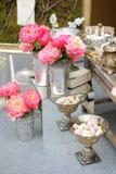 Stylish sweet table on wedding Stock Photography