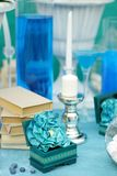 Stylish sweet table on wedding Stock Image