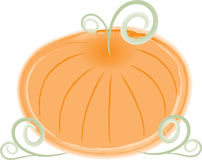 Stylish Swirly Pumpkin Stock Photo