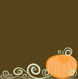 Stylish Swirly Pumpkin Border Royalty Free Stock Photography