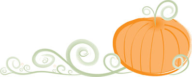Stylish Swirly Pumpkin Border Stock Images