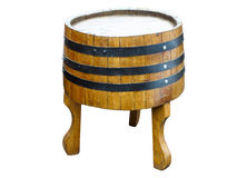 Stylish table made from old barrel Royalty Free Stock Photo