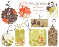 Stylish tags collection stock illustration