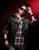 Stylish teen boy Stock Images