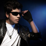 Stylish teen boy Stock Photo
