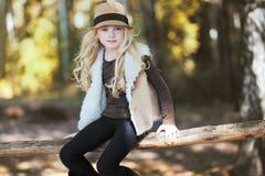 Stylish teen girl, blonde Stock Image
