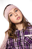Stylish teen with scarf Royalty Free Stock Image