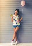 Stylish teenage girl Stock Photography