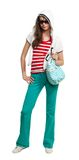 Stylish teenage girl with purse Royalty Free Stock Images