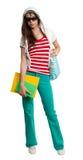Stylish teenage girl wearing shades Stock Photo