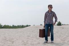 Stylish teenager on the beach Royalty Free Stock Photos
