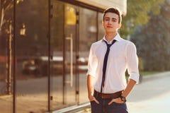 Stylish teenager royalty free stock image