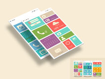 Stylish template for mobile user interface. Royalty Free Stock Image
