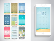 Stylish template for mobile user interface. Royalty Free Stock Photos
