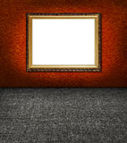 Stylish terracotta textile wall and frame Royalty Free Stock Images
