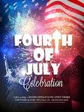 Stylish text for American Independence Day celebration. Stock Image