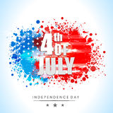 Stylish text for American Independence Day celebration. Royalty Free Stock Photos