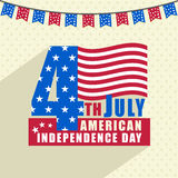 Stylish text for American Independence Day celebration. Stock Images