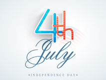 Stylish text for American Independence Day. Royalty Free Stock Image