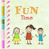 Stylish text design of Fun Time. Royalty Free Stock Image
