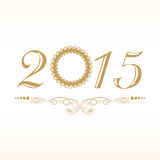 Stylish 2015 text design for New Year and Christmas. Stock Image