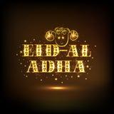 Stylish text for Eid-Al-Adha celebration. Stock Image