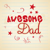 Stylish text for Happy Fathers Day celebration. Royalty Free Stock Images