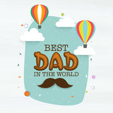 Stylish text for Happy Fathers Day celebration. Stock Photos