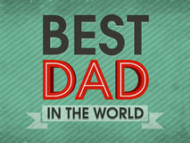 Stylish text For Happy Fathers Day celebration. Stock Photography