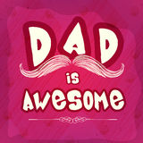 Stylish text for Happy Fathers Day celebration. Royalty Free Stock Image