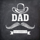Stylish text for Happy Fathers Day celebration. Royalty Free Stock Photography