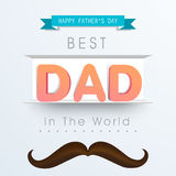 Stylish text for Happy Fathers Day celebration. Stock Image