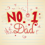 Stylish text for Happy fathers Day celebration. Stock Photo