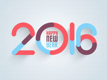 Stylish text 2016 for Happy New Year celebration. Stylish text 2016 on glossy sky blue background for Happy New Year celebration Stock Images