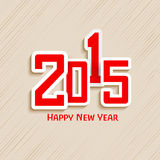 Stylish text for Happy New Year 2015 celebrations. Happy New Year 2015 celebrations greeting card design with beautiful text on seamless background Royalty Free Stock Images