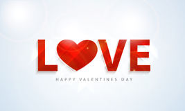 Stylish text for Happy Valentines Day celebrations. Stock Images