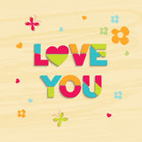 Stylish text for Happy Valentines Day celebrations. Stock Image