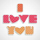 Stylish text for Happy Valentine's Day celebrations. Royalty Free Stock Photo