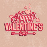 Stylish text for Happy Valentines Day celebration. Stock Images